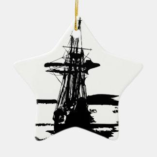 Ornamento De Cerâmica navio de pirata