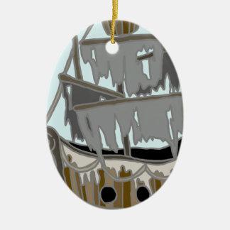 Ornamento De Cerâmica Navio do fantasma