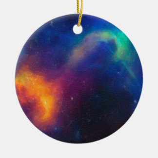 Ornamento De Cerâmica Nebulla abstrato com a nuvem cósmica galáctica 24