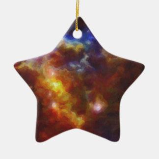 Ornamento De Cerâmica Nebulla abstrato com a nuvem cósmica galáctica 37