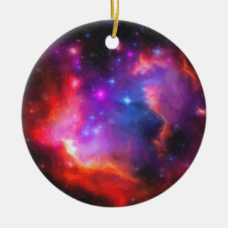 Ornamento De Cerâmica Nebulosa abstrata da nuvem de Magellanic