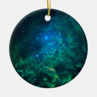 Ornamento De Cerâmica Nebulosa flamejante da estrela