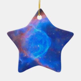 Ornamento De Cerâmica Nebulosa galáctica abstrata com nuvem cósmica 10