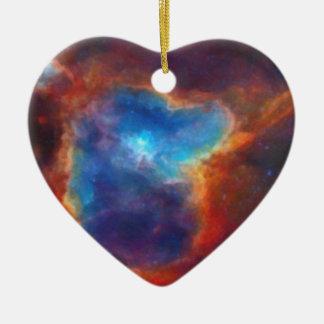 Ornamento De Cerâmica Nebulosa galáctica abstrata com nuvem cósmica 4a