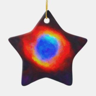 Ornamento De Cerâmica Nebulosa galáctica abstrata com nuvem cósmica 9