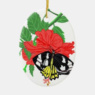 Ornamento De Cerâmica Néctar do bebendo da borboleta