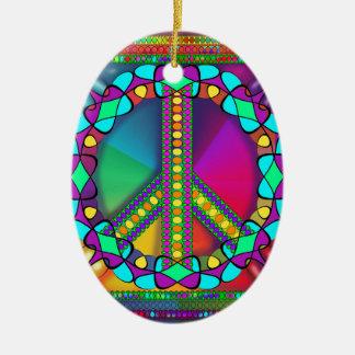 Ornamento De Cerâmica nenhuma zona das armas nucleares colorida
