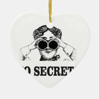 Ornamento De Cerâmica nenhuns segredos yeah