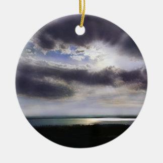 Ornamento De Cerâmica nenhuns tubarões - nenhum sal - nenhumas
