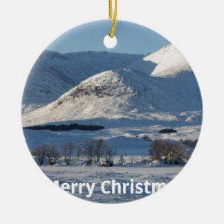 Ornamento De Cerâmica neve do Natal no inverno