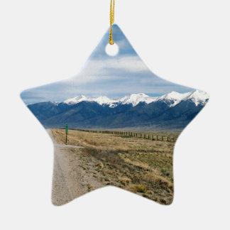 Ornamento De Cerâmica Neve Mountais de Colorado
