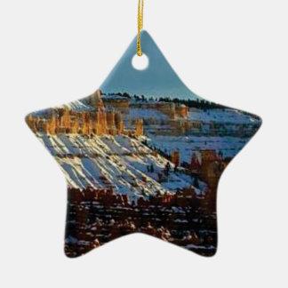 Ornamento De Cerâmica neve no bryce