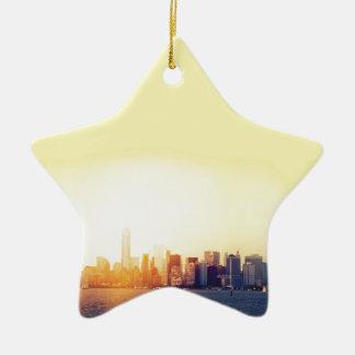 Ornamento De Cerâmica New York New York
