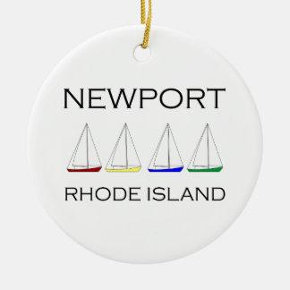 Ornamento De Cerâmica Newport Rhode - veleiros da ilha