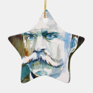 Ornamento De Cerâmica nietzsche de Friedrich - retrato da aguarela