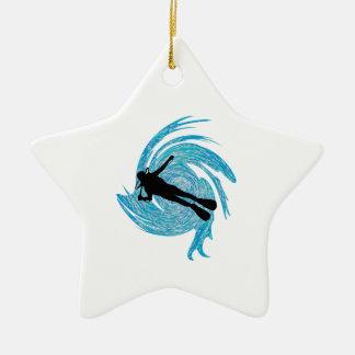 Ornamento De Cerâmica No azul
