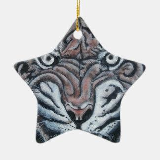 Ornamento De Cerâmica No Borda-Tigre