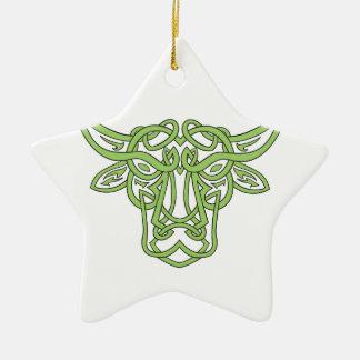 Ornamento De Cerâmica Nó do céltico de Bull do Taurus