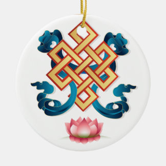 Ornamento De Cerâmica Nó infinito do símbolo da religião do Mongolian
