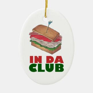 Ornamento De Cerâmica No presente engraçado de Foodie do sanduíche de