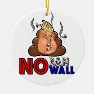 Ornamento De Cerâmica NoBanNoWall nenhuma proibição nenhuma proibição da