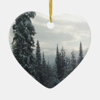 Ornamento De Cerâmica Noite do inverno