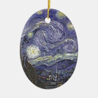 Ornamento De Cerâmica Noite estrelado
