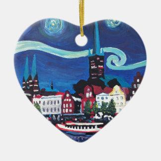 Ornamento De Cerâmica Noite estrelado em Luebeck Alemanha