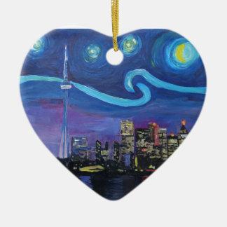 Ornamento De Cerâmica Noite estrelado em Toronto com inspirações de Van