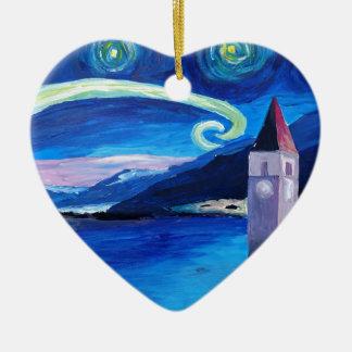 Ornamento De Cerâmica Noite estrelado na suiça - Vierwaldstätter vê