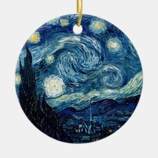 Ornamento De Cerâmica Noite estrelado por Vincent van Gogh