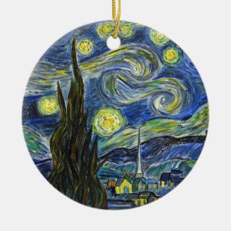 Ornamento De Cerâmica Noite estrelado, Van Gogh