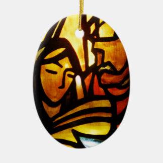 Ornamento De Cerâmica Noite santamente de O!