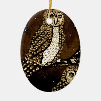 Ornamento De Cerâmica Noite WatchersIMG_0247.JPG