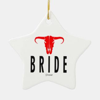 Ornamento De Cerâmica Noiva & Bull pelo design de VIMAGO