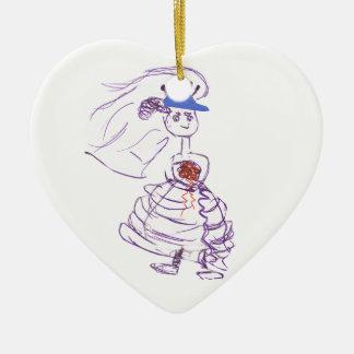 Ornamento De Cerâmica Noiva do fã de basebol
