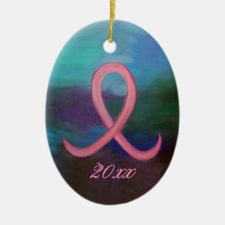 Ornamento De Cerâmica Nome cor-de-rosa corajoso de suporte da fita do