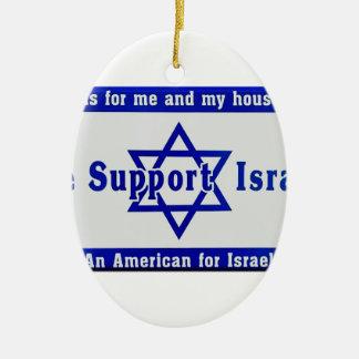 Ornamento De Cerâmica Nós apoiamos Israel
