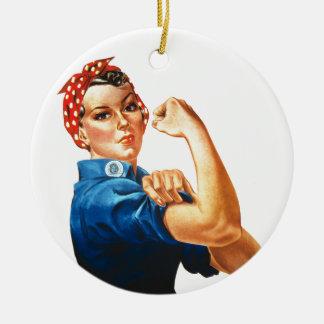 Ornamento De Cerâmica Nós podemos fazê-lo Rosie que as mulheres do