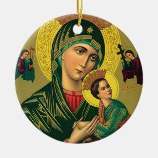 Ornamento De Cerâmica Nossa mãe da ajuda perpétua Jesus