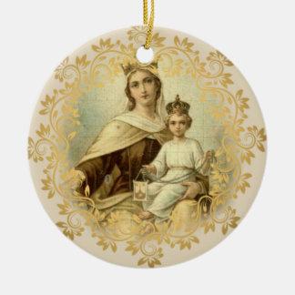 Ornamento De Cerâmica Nossa senhora do bebê Jesus de Monte Carmelo