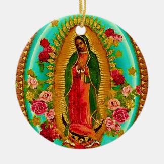 Ornamento De Cerâmica Nossa Virgem Maria mexicana do santo da senhora
