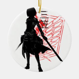 Ornamento De Cerâmica Nosso somente guerreiro da esperança