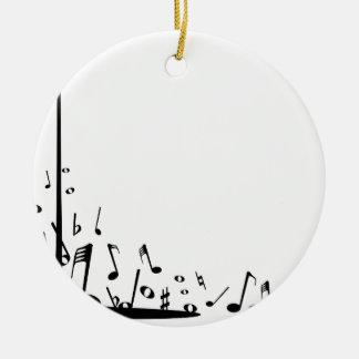 Ornamento De Cerâmica Notas musicais de derramamento