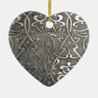 Ornamento De Cerâmica Nouveau da arte, estilo do jugen, Noruega, Alesund