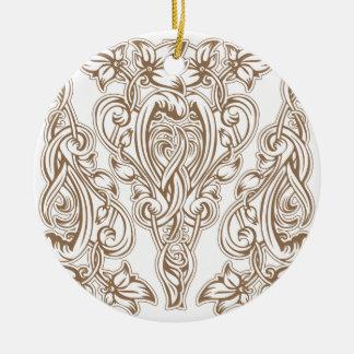 Ornamento De Cerâmica nouveau da arte, ouro, branco, vintage, teste