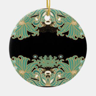 Ornamento De Cerâmica nouveau da arte, vintage, floral, époque do belle,