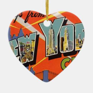 Ornamento De Cerâmica Nova Iorque do vintage