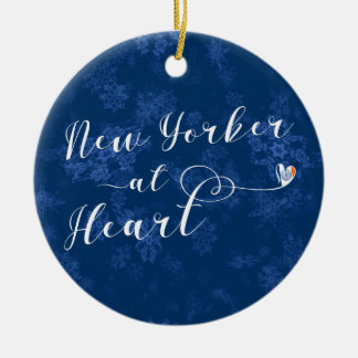 Ornamento De Cerâmica Nova-iorquino na decoração do feriado do coração,