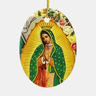 Ornamento De Cerâmica Nuestra Señora de Guadalupe